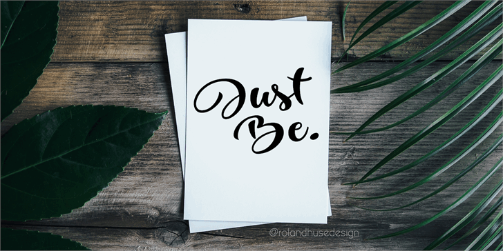 Just Be Demo font by Roland Huse Design