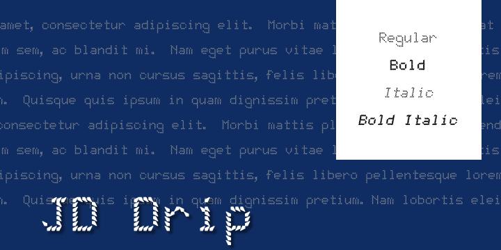 JD Drip font by Jecko Development