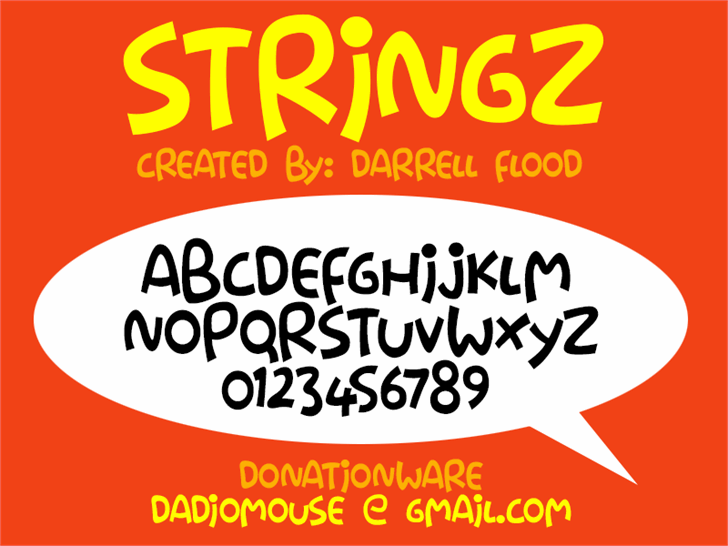 Stringz font by Darrell Flood