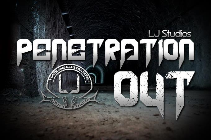 Penetration Out font by LJ Design Studios