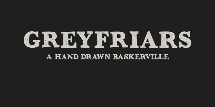DK Greyfriars font by David Kerkhoff