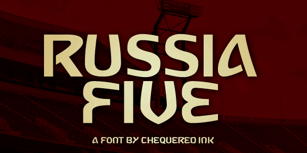 Russia Five font by Chequered Ink