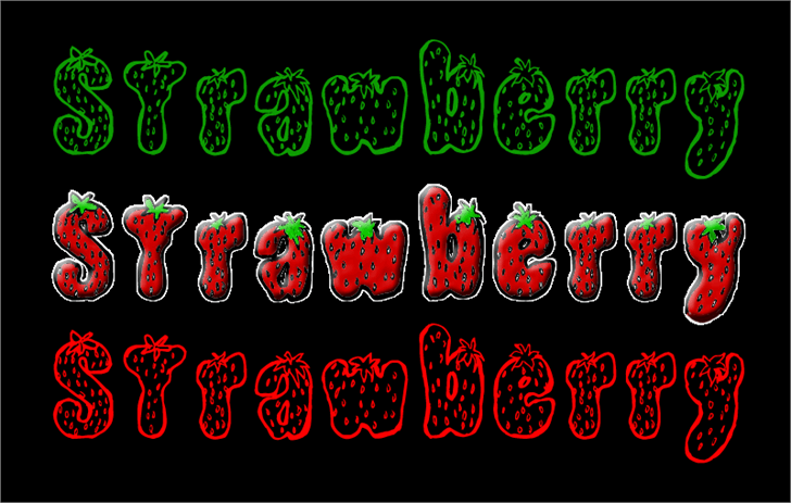 Strawberry font by CloutierFontes