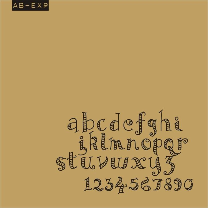 AB Exp font by redFONTS