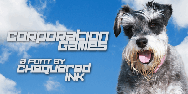 Corporation Games font by Chequered Ink