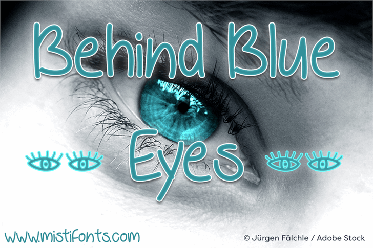 Behind Blue Eyes font by Misti's Fonts