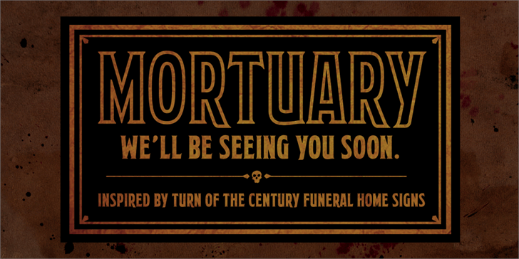 Mortuary BB font by Blambot