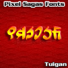 Tuigan font by Pixel Sagas