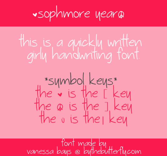 Sophmore Year font by ByTheButterfly