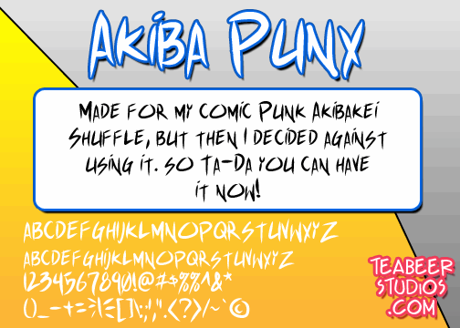 Akiba Punx font by Press Gang Studios
