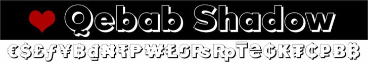 Qebab Shadow FFP font by deFharo