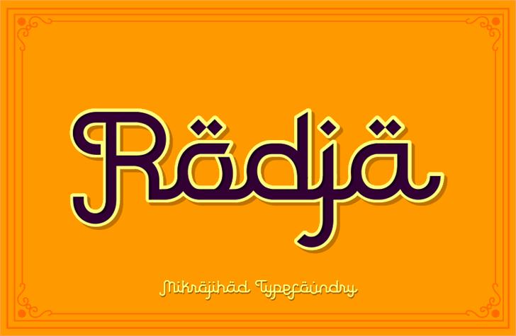 Rodja font by Mikrojihad Font