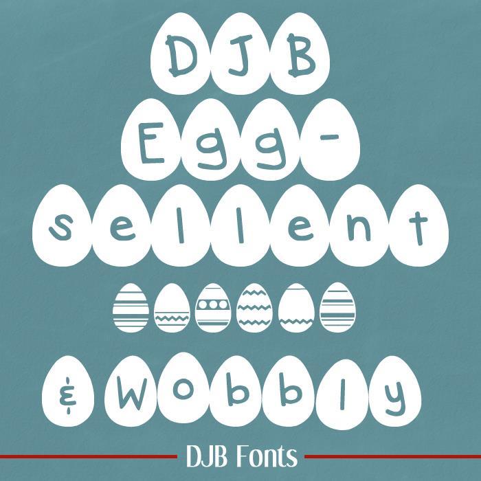 DJB Eggsellent font by Darcy Baldwin Fonts