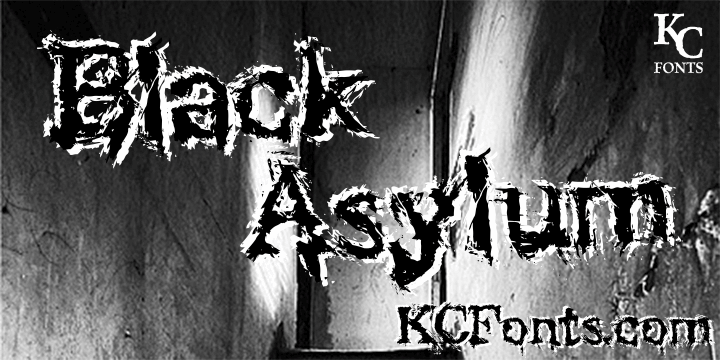 Black Asylum font by KC Fonts