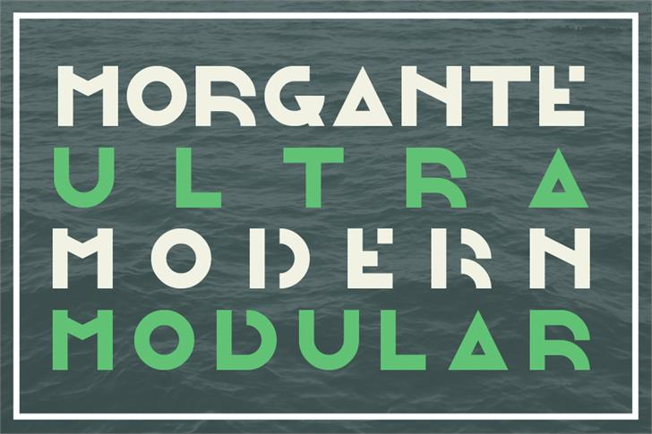 Morgante font by Out Of Step Font Company