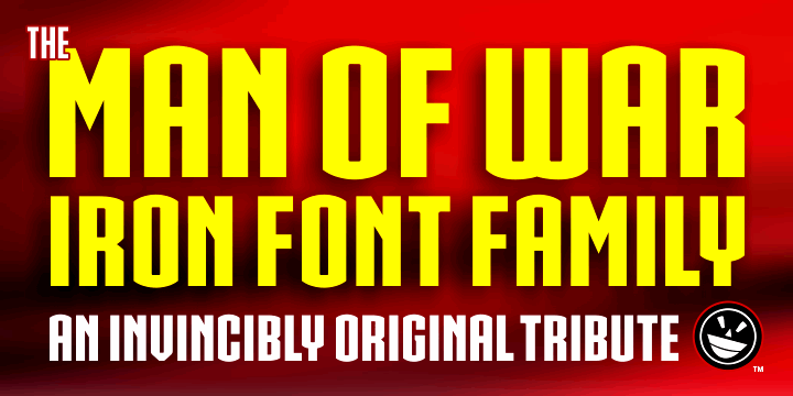 IRON MAN OF WAR 2 NCV font by the Fontry