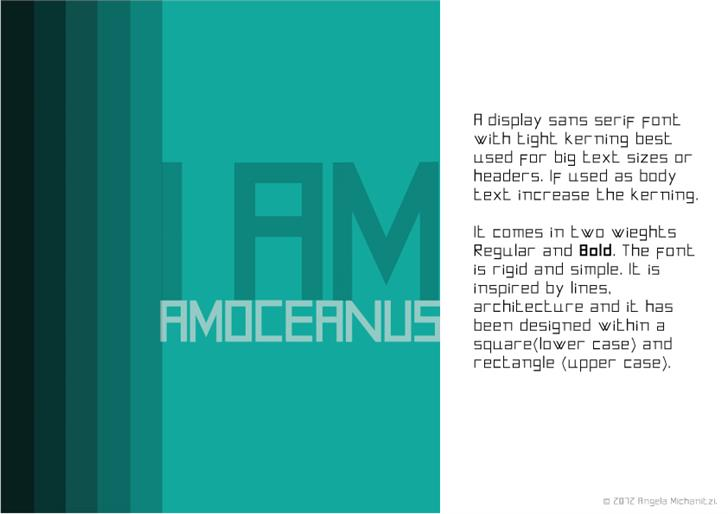 AMOceanus font by Angela Michanitzi