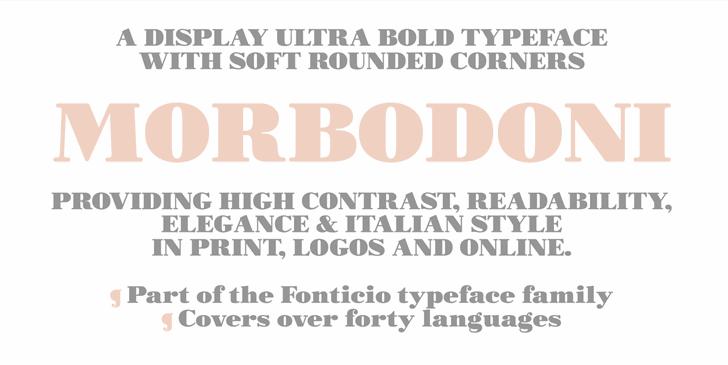 Morbodoni font by Zetafonts
