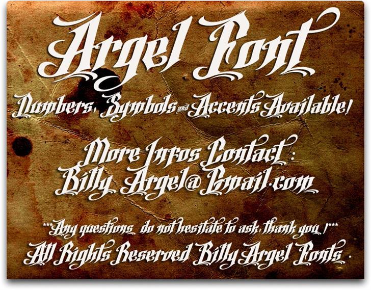 Argel Font by Billy Argel