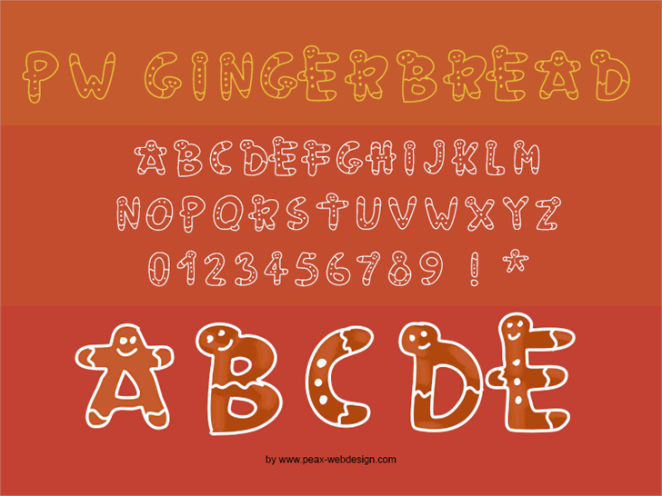 PWGingerbread font by Peax Webdesign