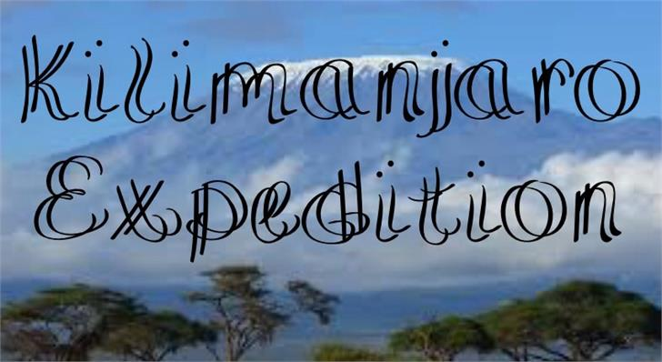 KilimanjaroExpedition font by UpandIt