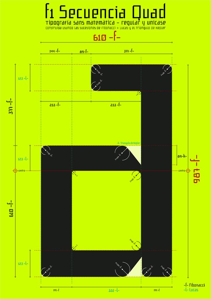 f1 Secuencia Quad ffp font by deFharo