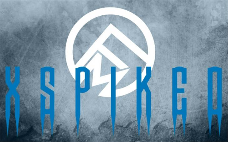 Spiked font by Font Monger