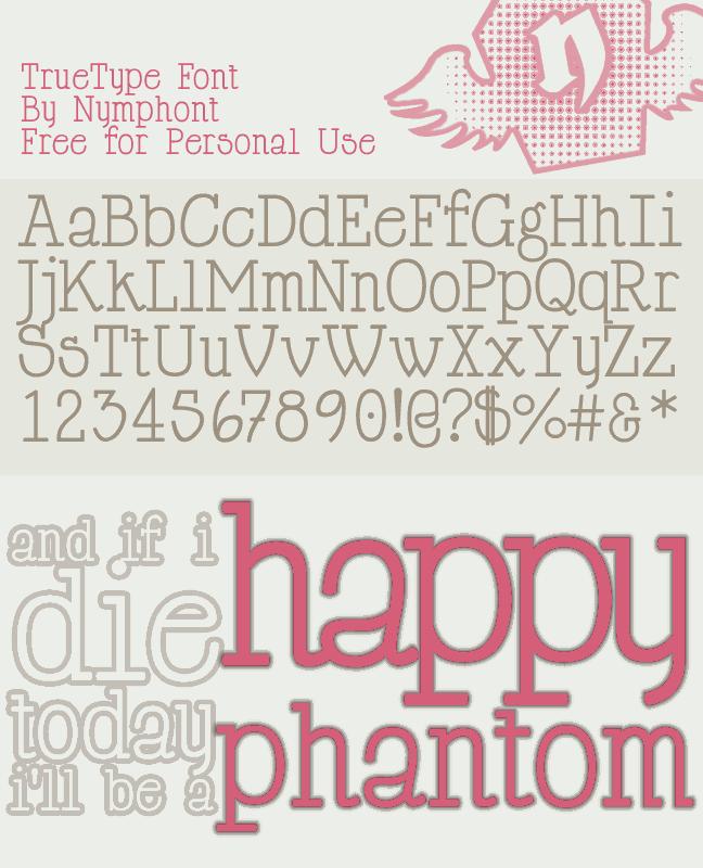 Happy Phantom font by Nymphont
