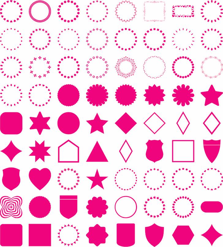 frames font by elharrak