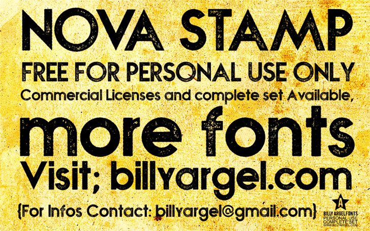 NOVA STAMP font by Billy Argel