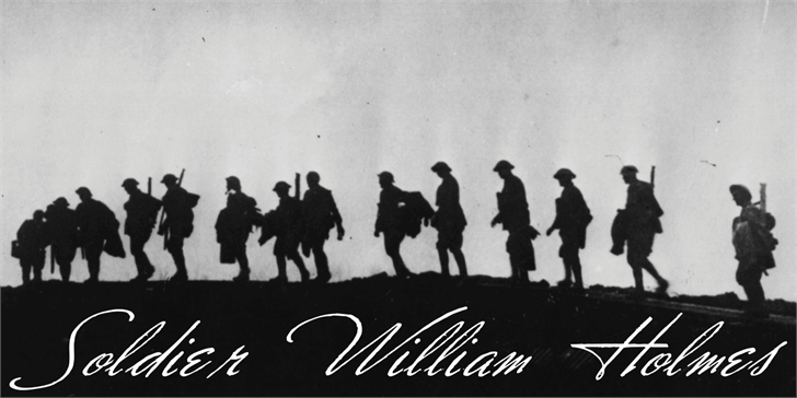 Soldier William Holmes font by Intellecta Design