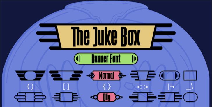 The Juke Box font by deFharo