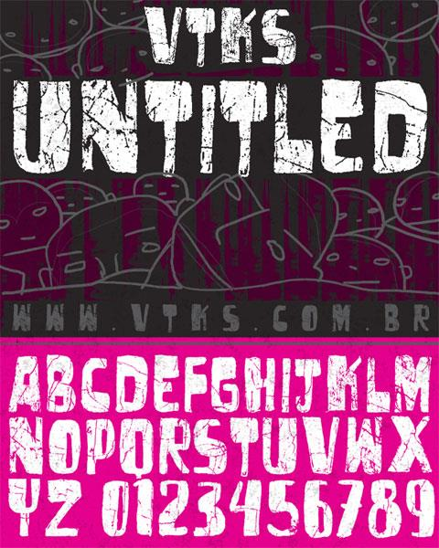 vtks untitled font by VTKS DESIGN
