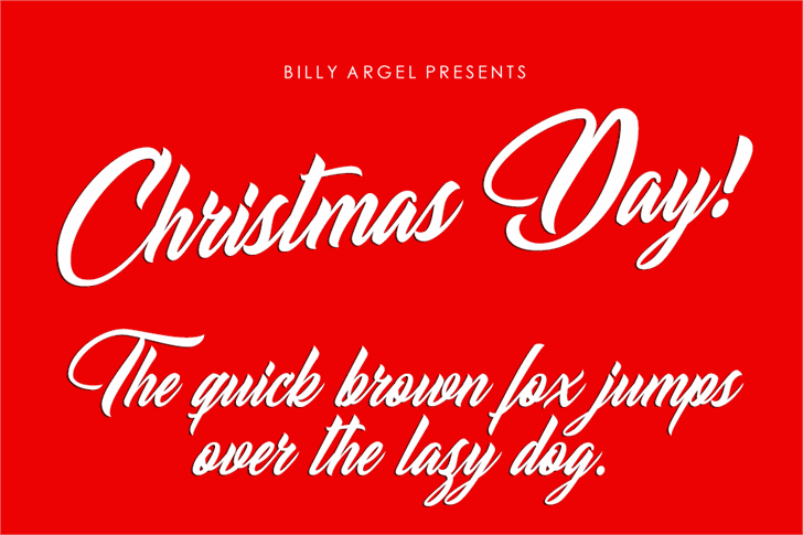 Christmas Day Personal Use font by Billy Argel