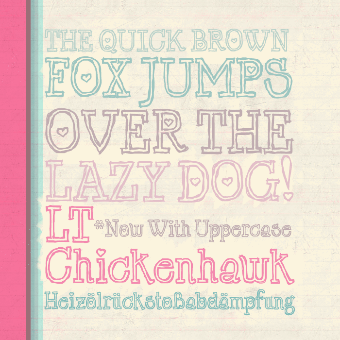 LT Chickenhawk font by Nymphont