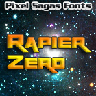 Rapier Zero font by Pixel Sagas