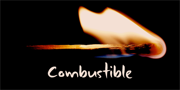 DK Combustible font by David Kerkhoff