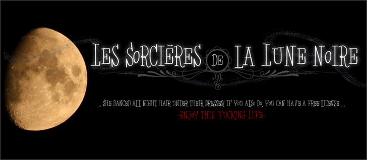 Les Sorcières de la Lune noire font by Maellekeita
