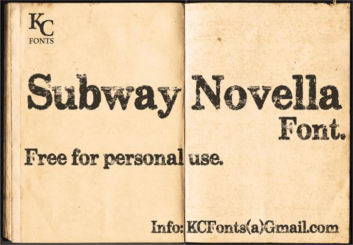 Subway Novella font by KC Fonts