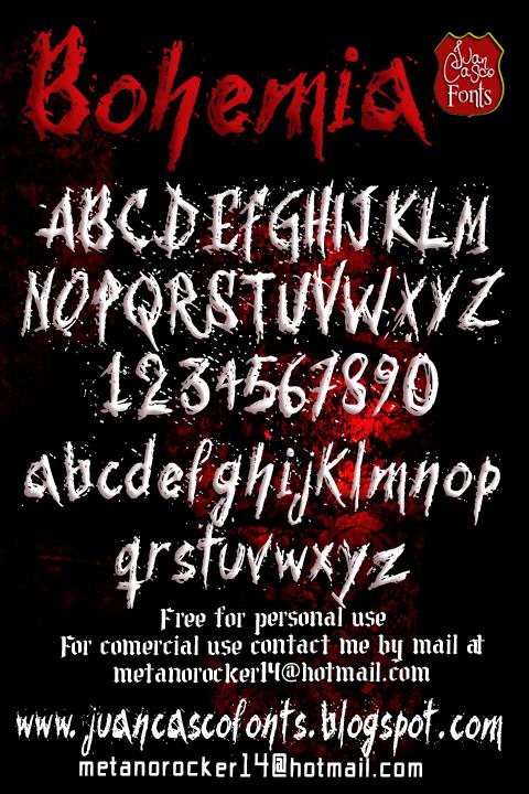Bohemia font by Juan Casco