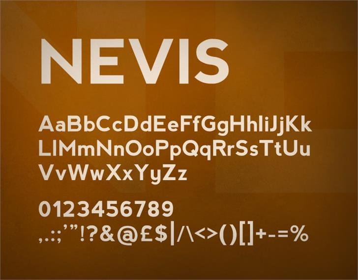 nevis font by Ten by Twenty