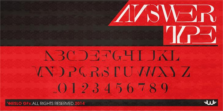 Answer Type font by weslo