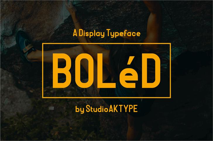 BOLeD font by StudioAKTYPE