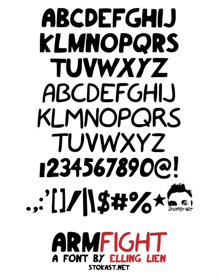 armfight font by Elling Lien