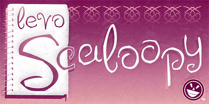 LEVO Scaloopy font by the Fontry