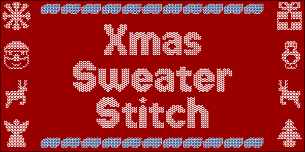 Xmas Sweater Stitch font by Chequered Ink