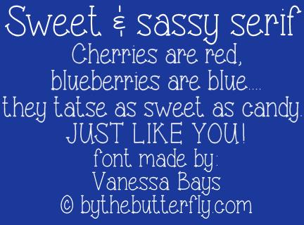 Sweet & sassy serif font by ByTheButterfly