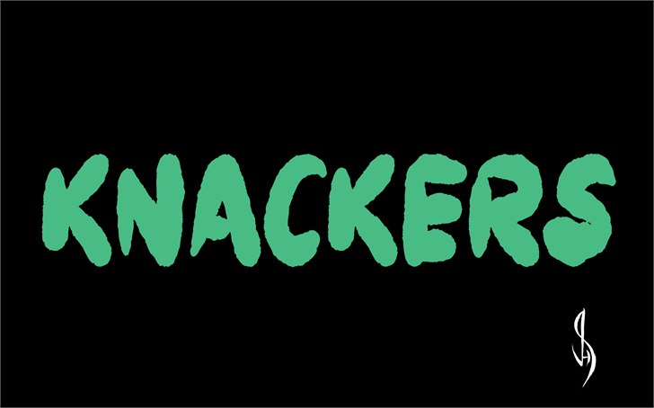 Knackers font by Jonathan S. Harris