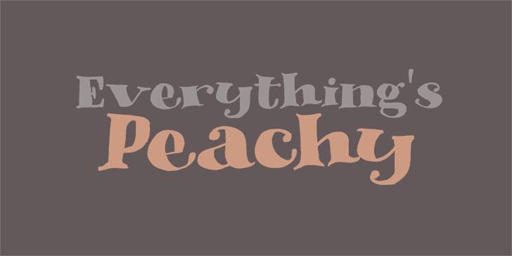 DK Phantom Peach font by David Kerkhoff
