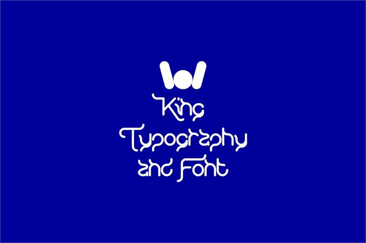 KING OF font And Typography font by weknow